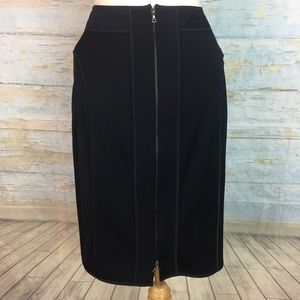 Narcisco Rodríguez navy pencil zip skirt